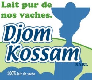 Das Logo der Kleinmolkerei DJOM KOSSAM zeigt eine Frau der Volksgruppe Peul die Milch verkauft.
